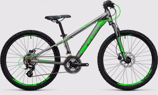 BICICLETA COPII CUBE KID 240 DISC Grey Flashred 2017