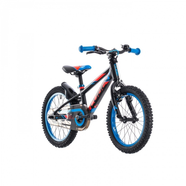 BICICLETA CUBE KID 160 Black Flashred Blue 2018 2