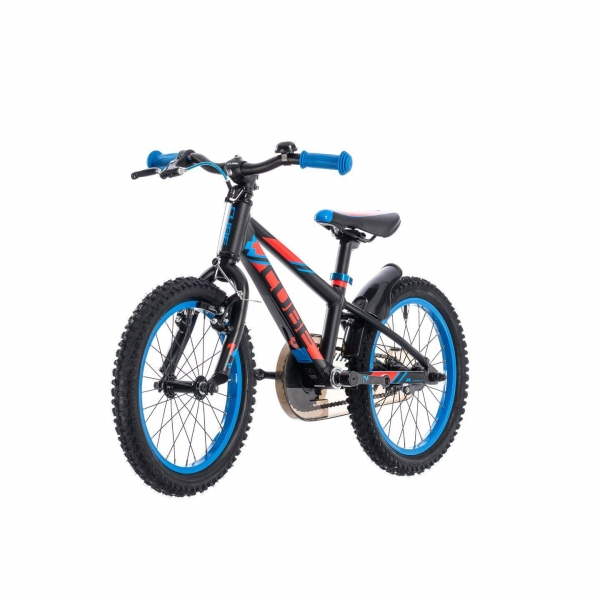 BICICLETA CUBE KID 160 Black Flashred Blue 2018 1