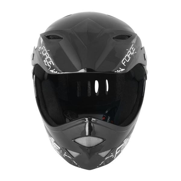 Casca Force Downhill Junior negru lucios S-M 0