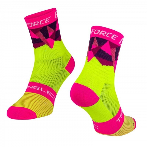 Sosete Force Triangle fluo/roz S-M 0