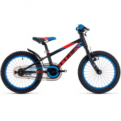 BICICLETA CUBE KID 160 Black Flashred Blue 20180
