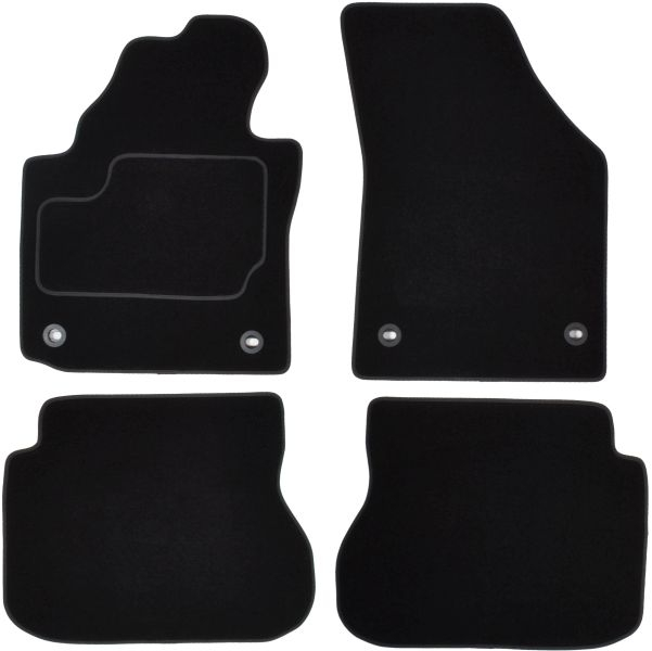 Covorase auto (set, velur, culoare negru, 7- person version extra long) VW CADDY III intre 2001-2015 0