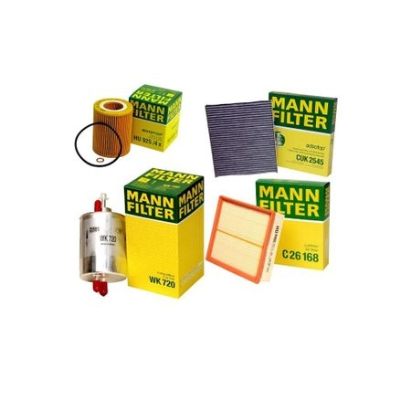Pachet filtre revizie MANN FILTER VW Golf VI 2.0 TDI 110 CP 0