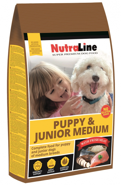 NUTRALINE DOG PUPPY&JUNIOR MEDIUM 3 KG 0