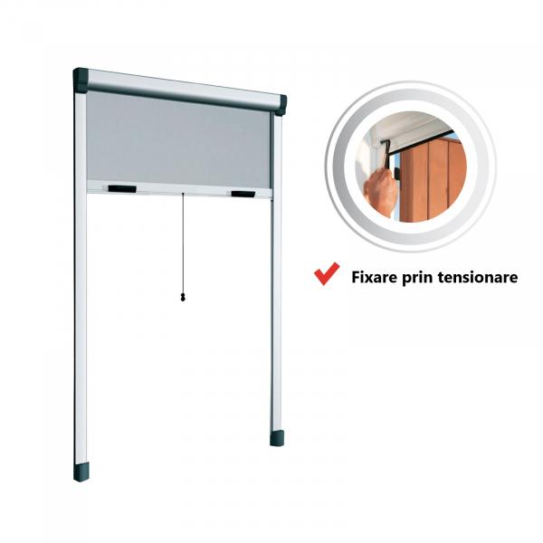 KIT plasă de țânțari tip rulou verticală cu lanț pentru fereastră BAZAR 0