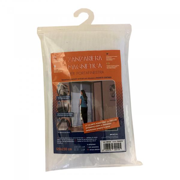 Plasă de țânțari din panouri verticale pentru ușă cu închidere magnetică 0