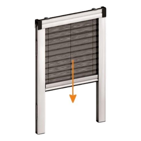 KIT plasă de țânțari plisată verticală pentru fereastră PLIXY [0]