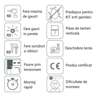 KIT plasă de țânțari tip rulou verticală pentru fereastră BAZAR1