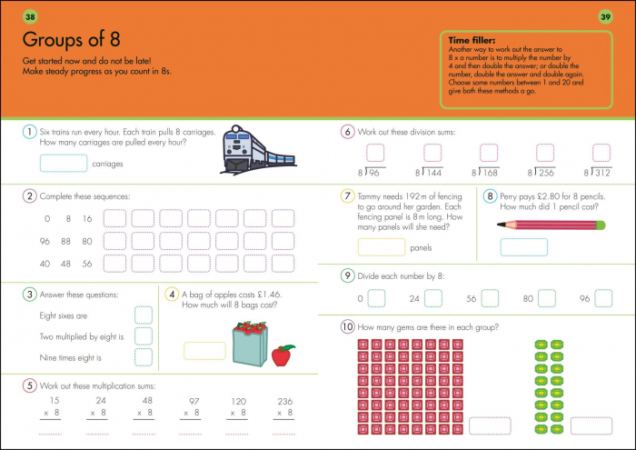 10 Minutes A Day Times Tables inmultiri 2
