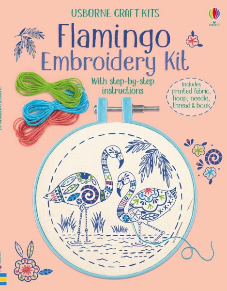 Set de brodat Flamingo 0