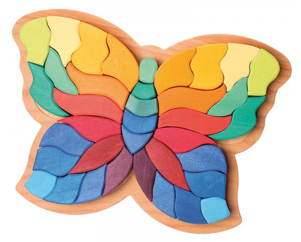 Fluturele Curcubeu puzzle senzorial si creativ 0