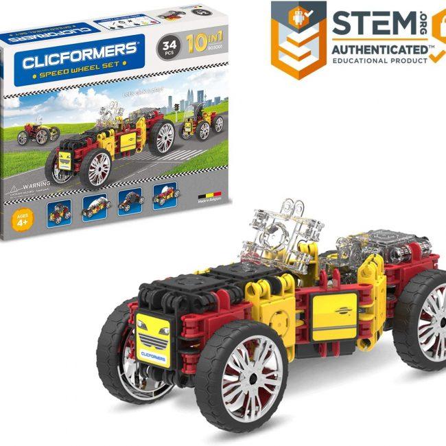 Set de construit Clicformers- Masini de viteza, set 34 piese 4