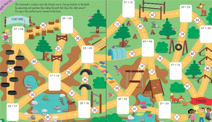 Adding and subtracting activity book 2