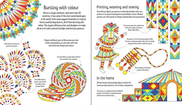 African Patterns to colour 1