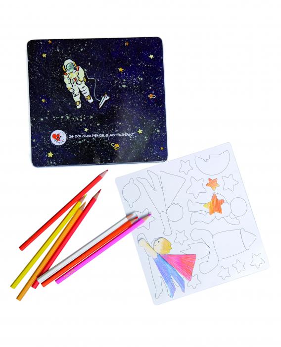 Set de desen cu piese magnetice Astronaut 0