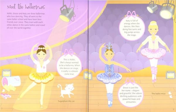 Ballerinas and dolls sticker dolly dressing 1