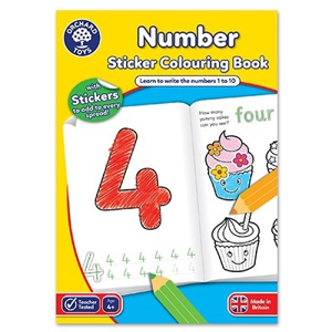 Carte de colorat cu activitati in limba engleza si abtibilduri Invata numerele NUMBER [0]