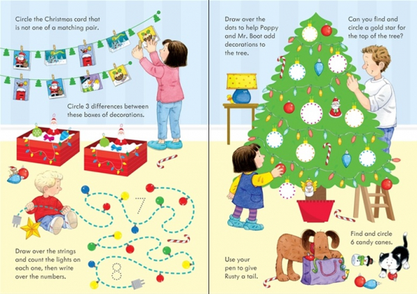 Christmas wipe clean activities Poppy and Sam 1