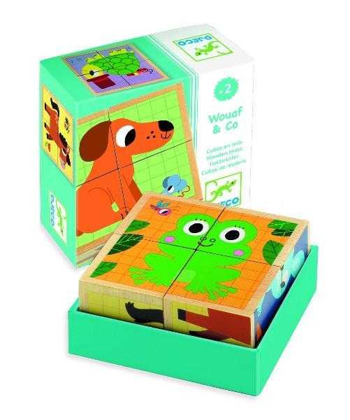 Cuburi din lemn Animale 6 puzzle 0