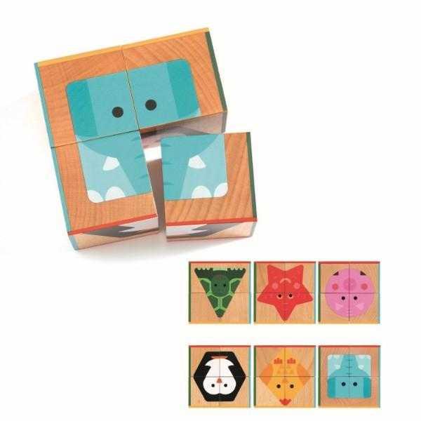 Cuburi din lemn basic 6 puzzle [0]