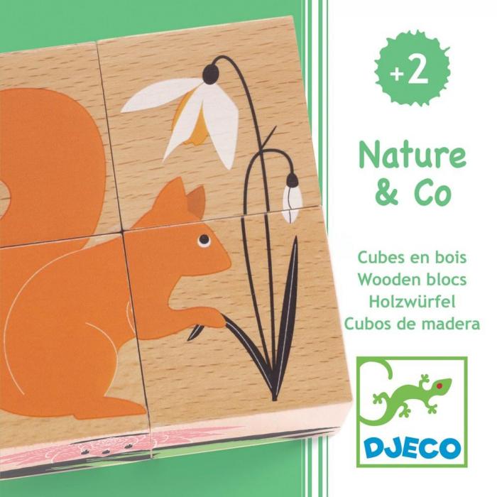 Cuburi din lemn Natura 6 puzzle 0