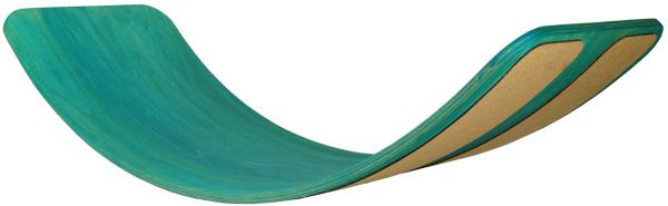 Placă de balans și echilibru, culoare Mentă, cu benzi de plută pentru aderenta 0