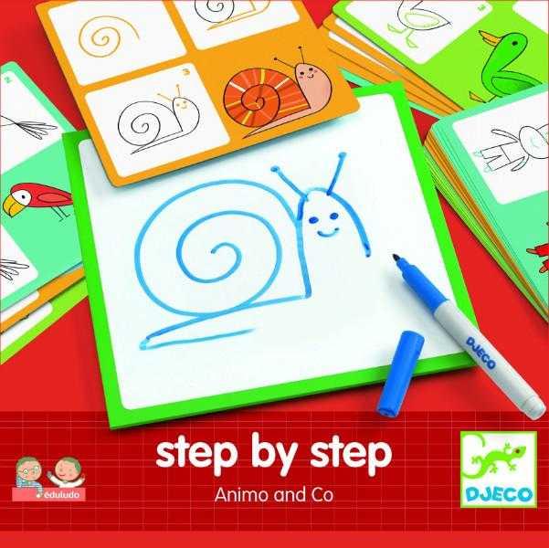 Deseneaza pas cu pas animale 0