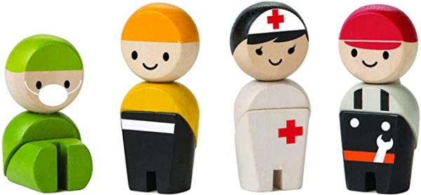 Rescue Crew - set 4 figurine de lemn 0