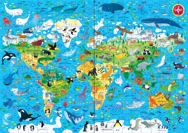 Animals of the world - Book and jigsaw [3]