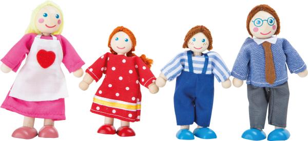 european family set of 4 dolls 0