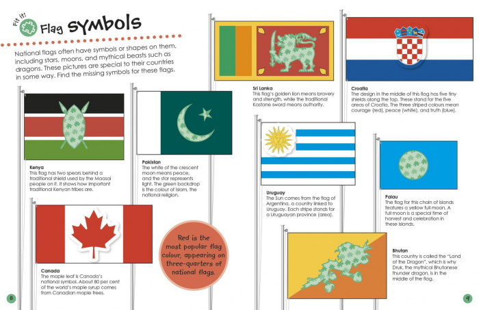 Flags Around the World Ultimate Sticker Book 2
