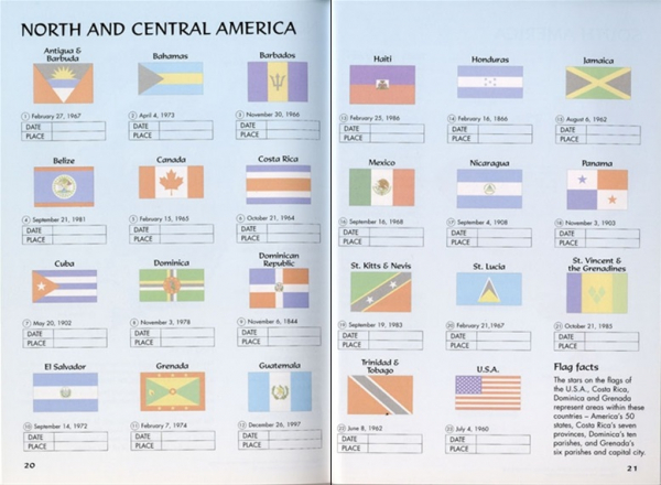 Flags of the world sticker book 2
