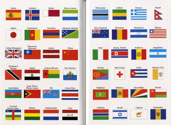 Flags of the world sticker book 3