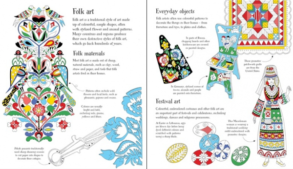 Folk Patterns to colour 1