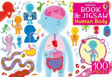 Human Body carte si puzzle 100 piese 0