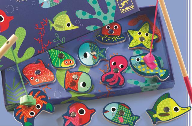 Joc de pescuit magnetic pesti colorati 0