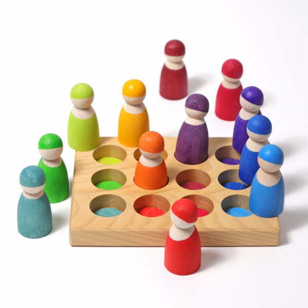 Placa pentru jocuri de sortare, model curcubeu 2