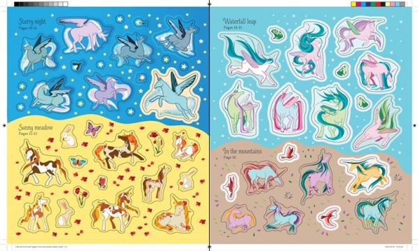 Pachet 2 Unicorni puzzle si carti autocolante 2