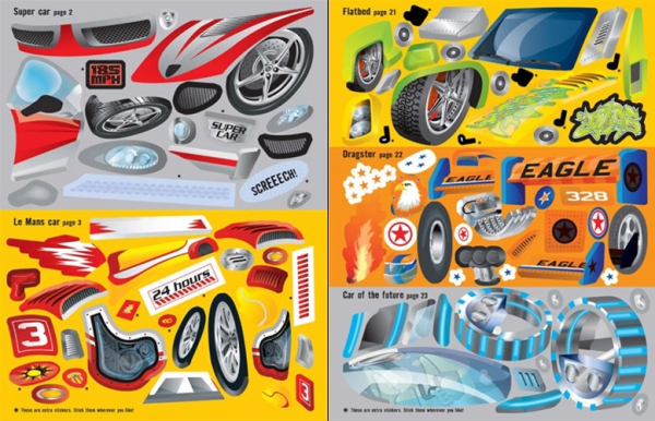 Build your own cars sticker book 3