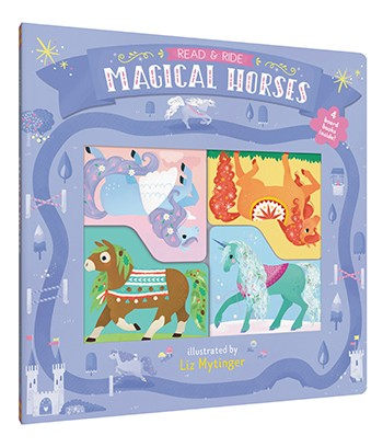 Magical Horses -Read and ride Set 4 cărti cu unicorn, cal, pegas [0]