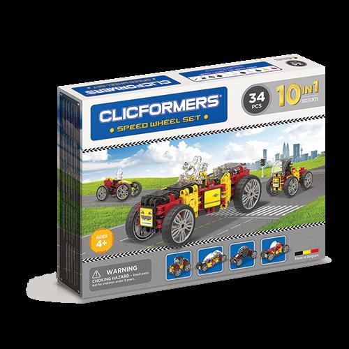 Set de construit Clicformers- Masini de viteza, set 34 piese 0
