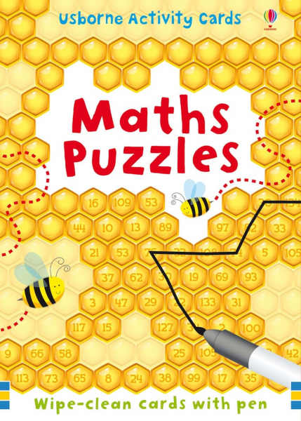 Maths Puzzles cards wipe clean 0