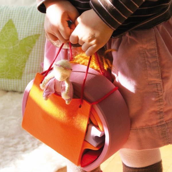 Mini căsuța păpușii roz portocaliu 1
