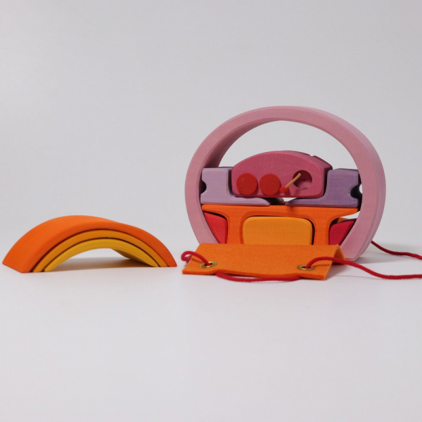 Mini căsuța păpușii roz portocaliu 2