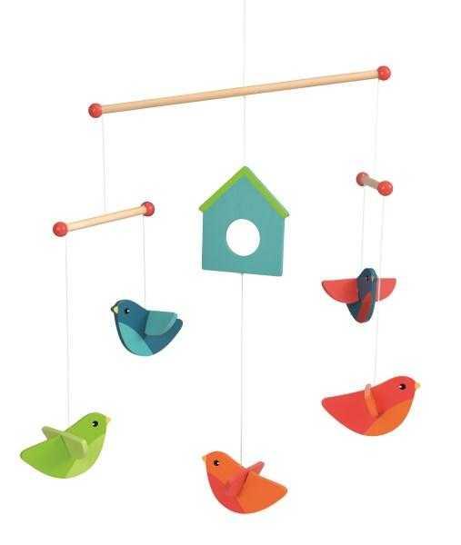 Păsări decor mobil lemn 0