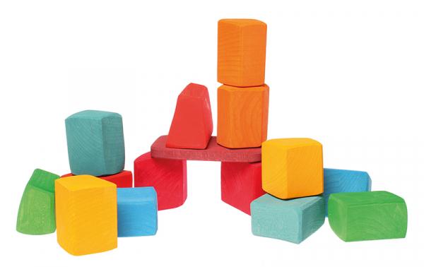 Set Waldorf de constructie cu 15 forme neregulate 0