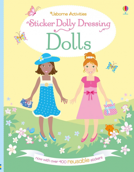 Dolls carte cu autocolante reutilizabile 0