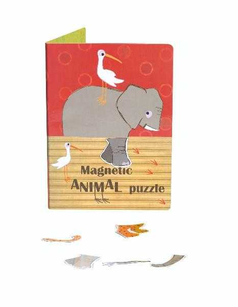 Puzzle magnetic cu animale 0