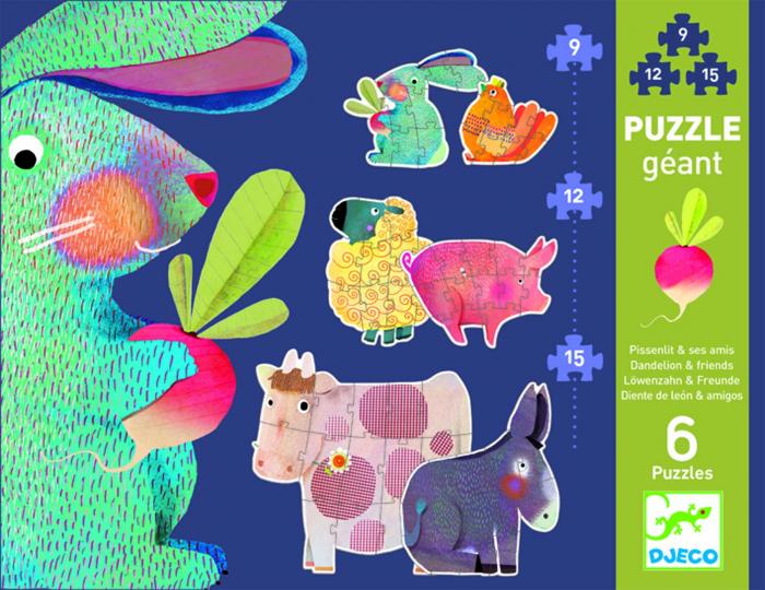 Puzzle gigant Djeco animale domestice [0]